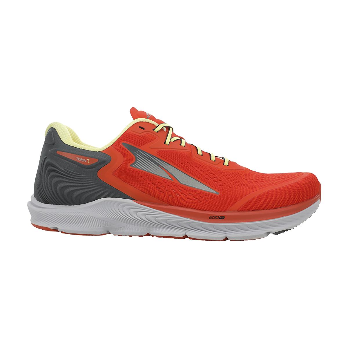 Men's Altra Torin 5 Running Shoe - Color: Orange - Size: 8 - Width: Regular, Orange, large, image 1