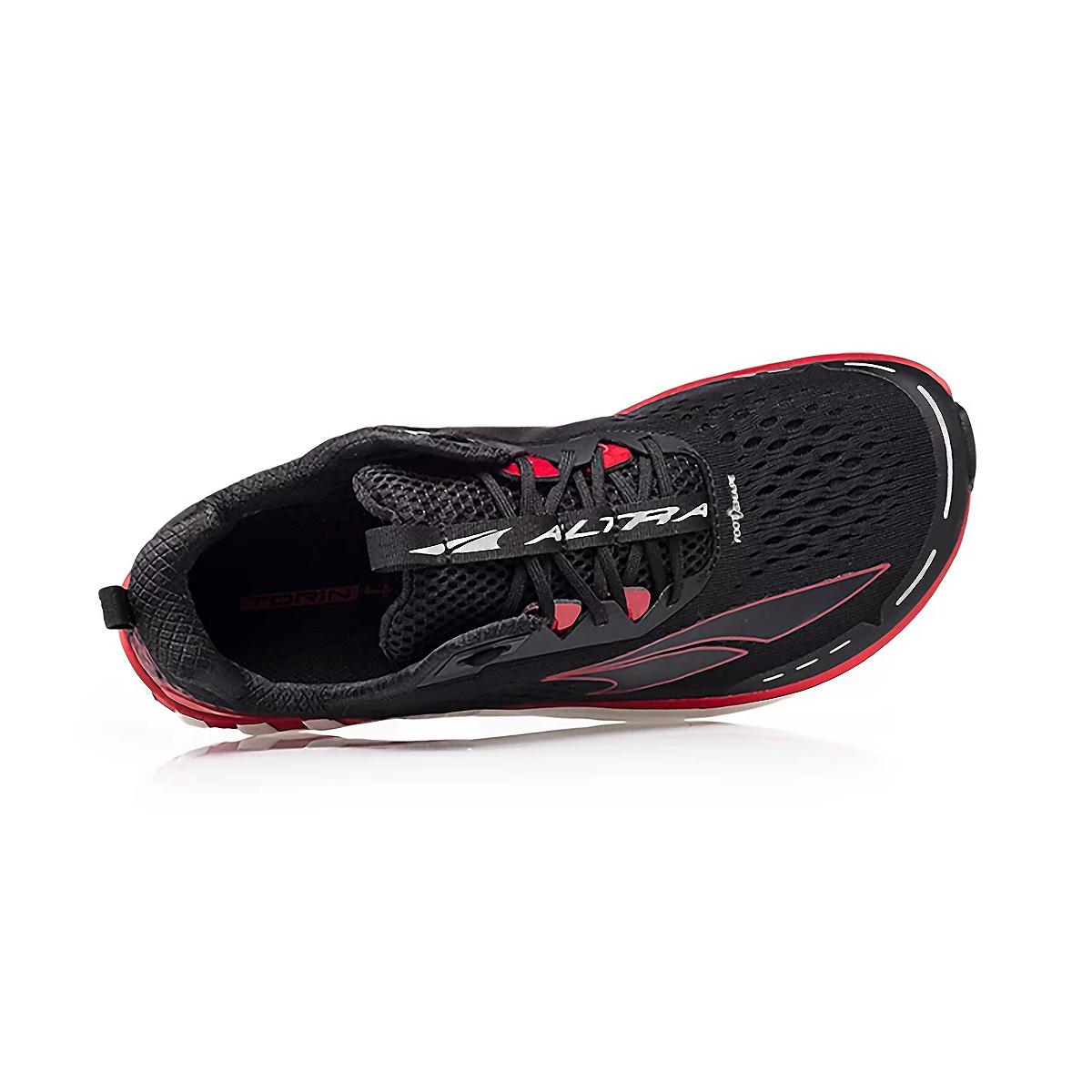 Men's Altra Torin 4 Running Shoe - Color: Black/Red - Size: 7 - Width: Regular, Black/Red, large, image 2