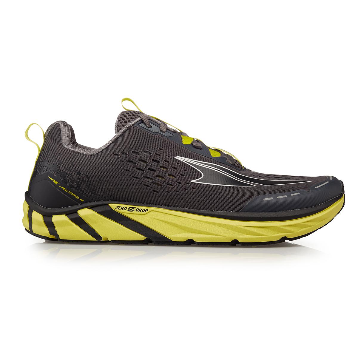 Men's Altra Torin 4 Running Shoe - Color: Gray/Lime - Size: 7 - Width: Regular, Gray/Lime, large, image 1