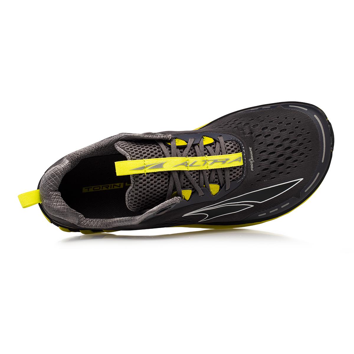 Men's Altra Torin 4 Running Shoe - Color: Gray/Lime - Size: 7 - Width: Regular, Gray/Lime, large, image 2