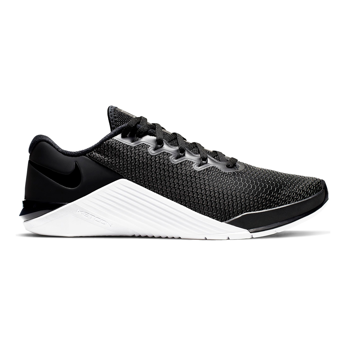 Women's Nike Metcon 5 Training Shoes  - Color: Black/Black White/Wolf Grey - Size: 5 - Width: Regular, Black/Black White/Wolf Grey, large, image 1