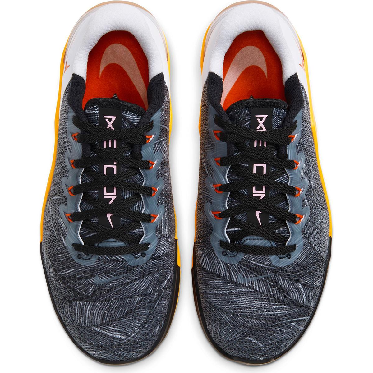 Women's Nike Metcon 5 Training Shoes - Color: Black/White/Laser Orange/Team Orange (Regular Width) - Size: 5, Black/White/Laser Orange/Team Orange, large, image 5