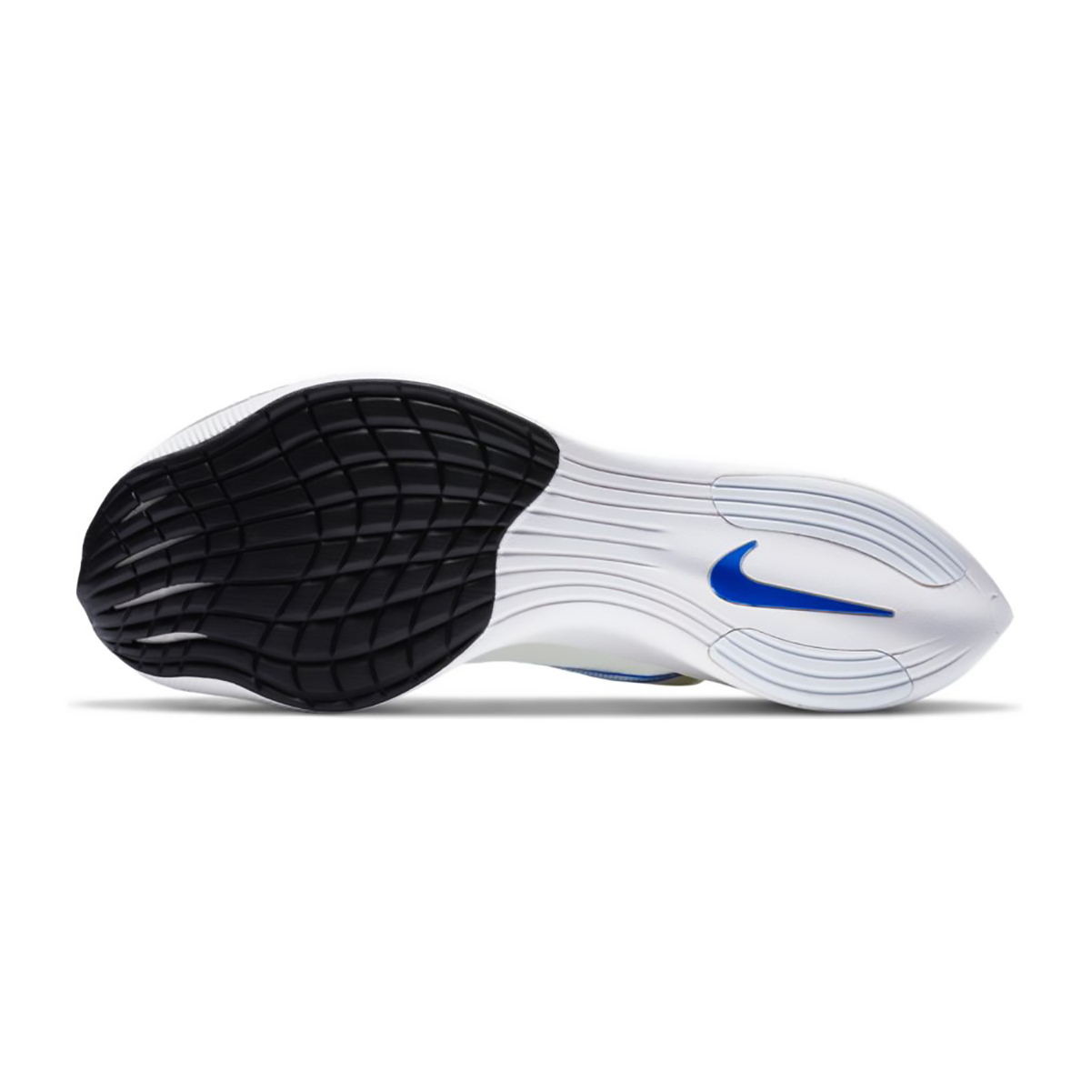 Nike ZoomX Vaporfly NEXT% Running Shoe - Color: White/Racer Blue/Cyber/Black - Size: M5/W6.5 - Width: Regular, White/Racer Blue/Cyber/Black, large, image 4