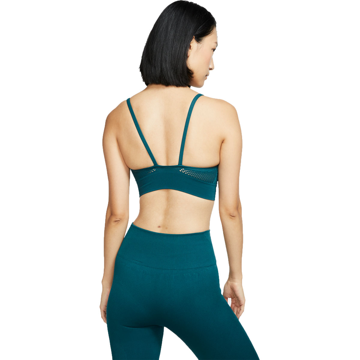 Women's Nike Seamless Light Bra  - Color: Midnight Turquoise - Size: XL, Midnight Turquoise, large, image 2