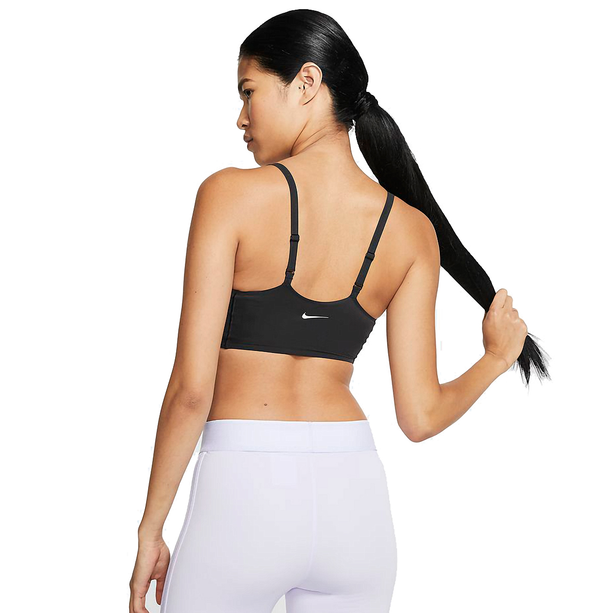 Women's Nike Indy Luxe Bra  - Color: Black/White - Size: XS, Black/White, large, image 2