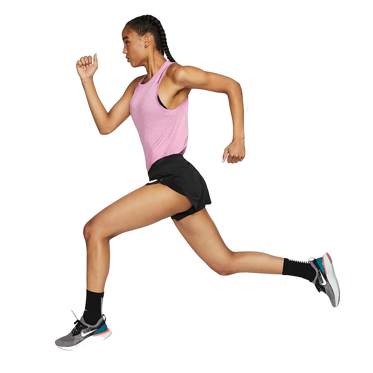 Women's Nike AeroSwift Track Short - Color: Black/Reflective - Size: XL, Black/Reflective, large, image 2