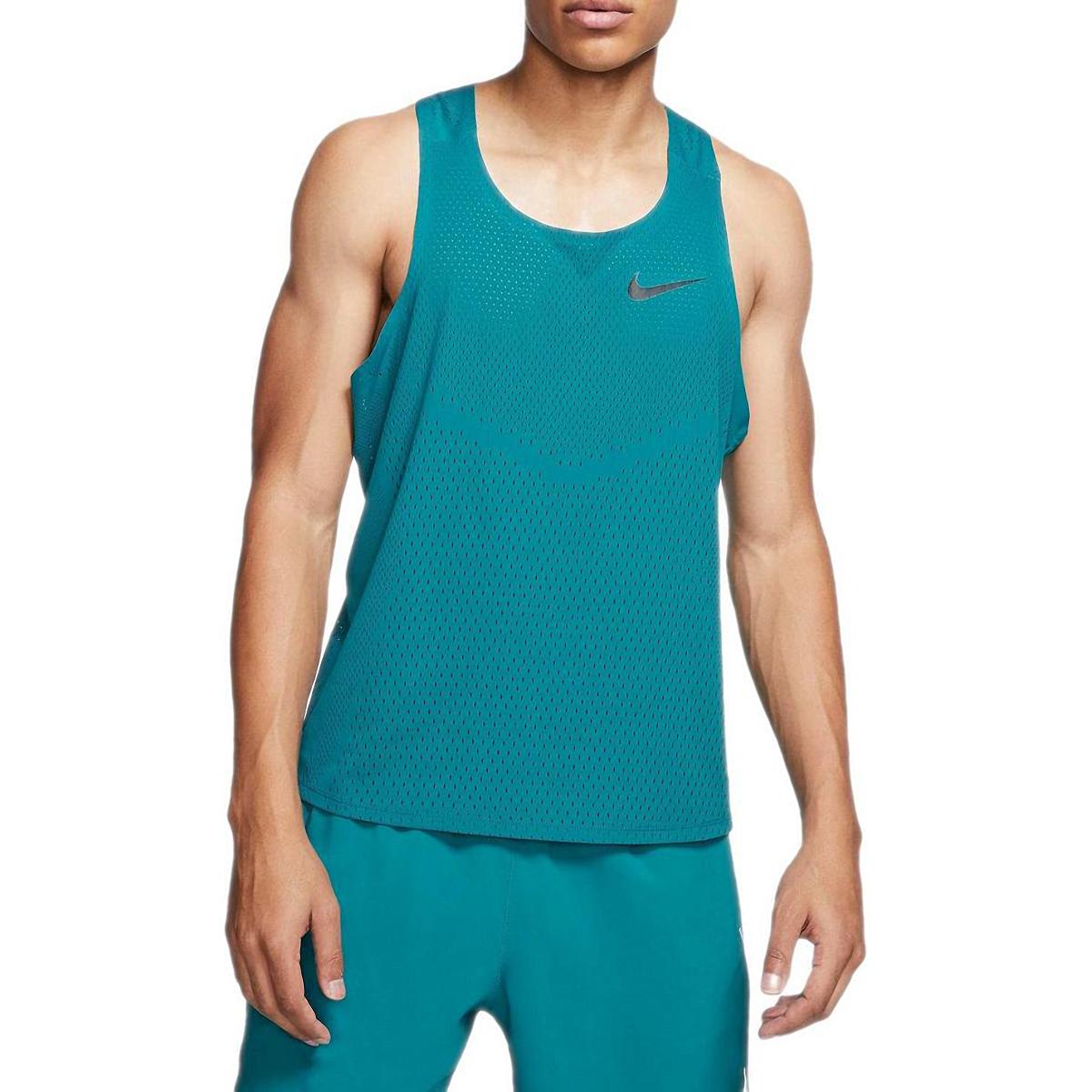 Men's Nike AeroSwift Singlet  - Color: Bright Spruce - Size: S, Bright Spruce, large, image 1