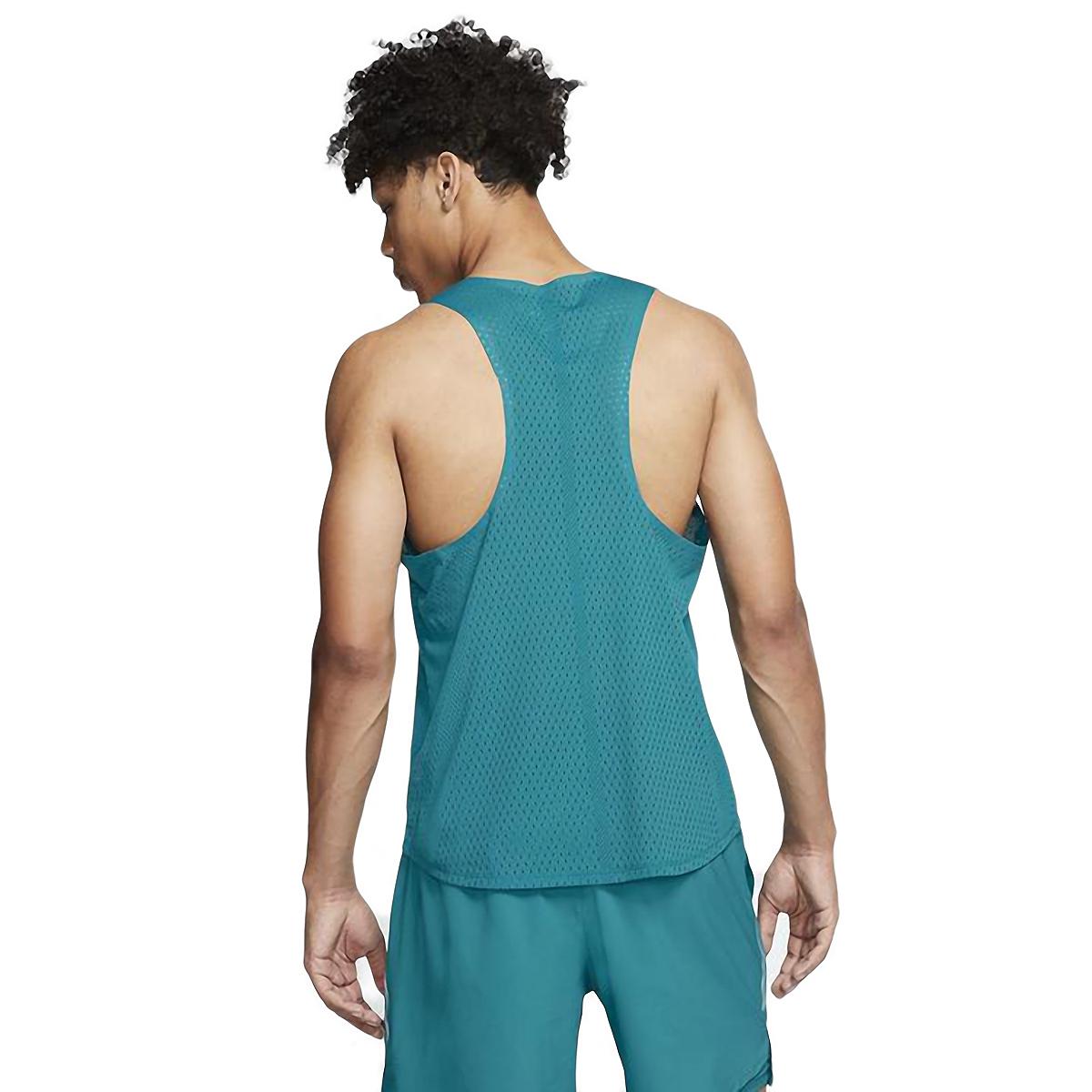 Men's Nike AeroSwift Singlet  - Color: Bright Spruce - Size: S, Bright Spruce, large, image 2