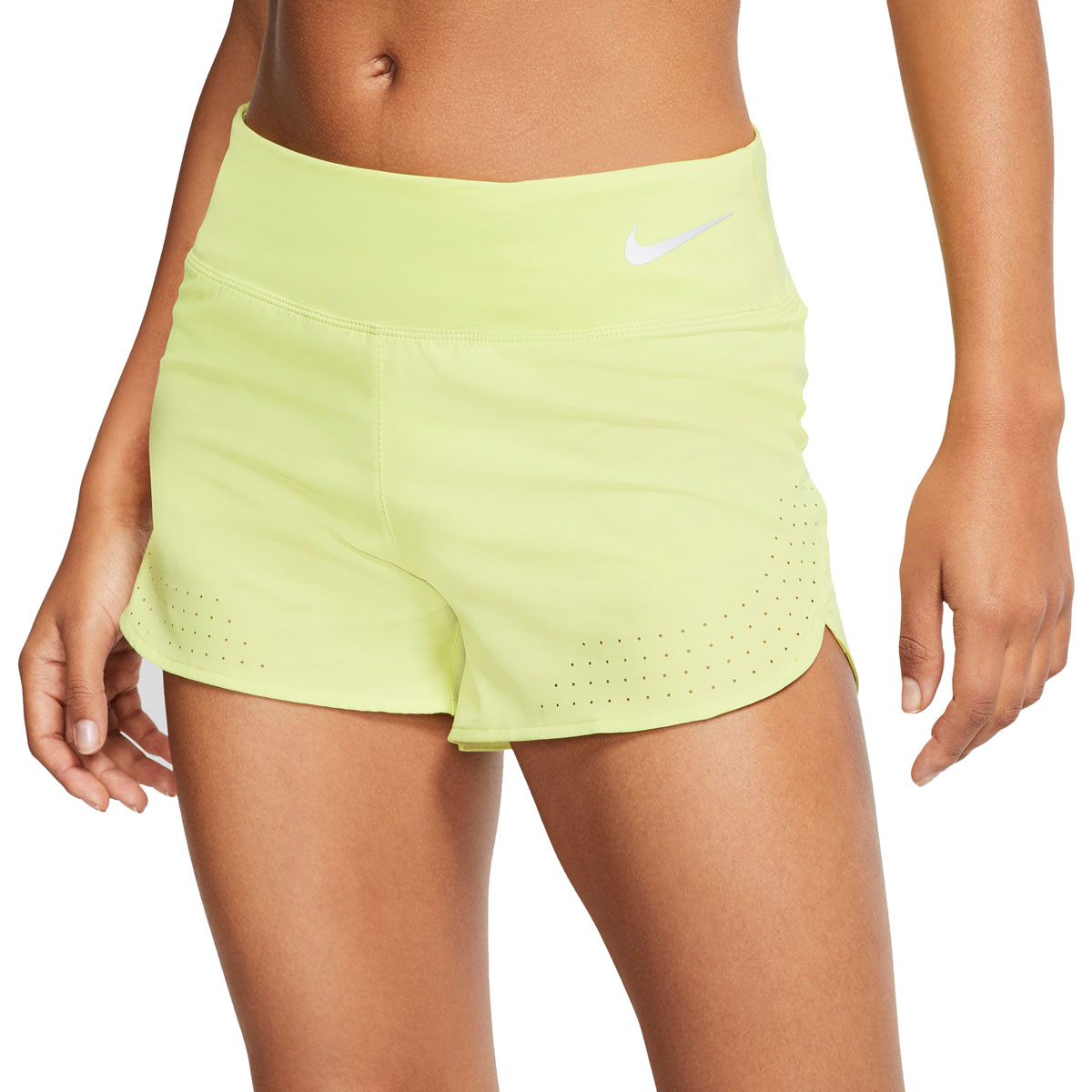 """Women's Nike Eclipse 3"""" Running Shorts - Color: Limelight/Reflective Silver - Size: XS, Limelight/Reflective Silver, large, image 1"""