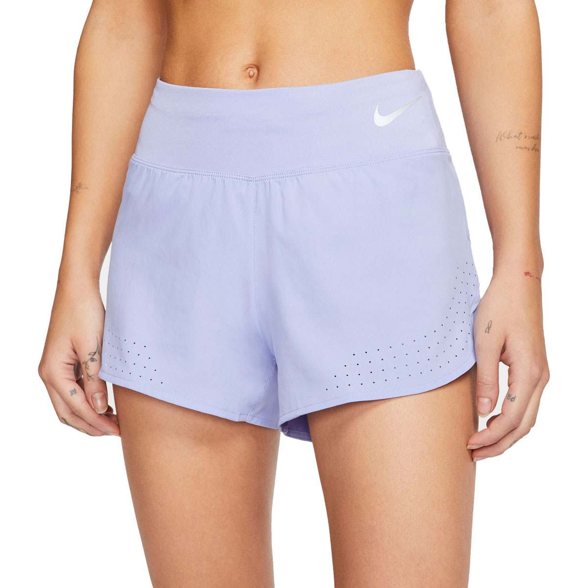 "Women's Nike Eclipse 3"" Running Shorts - Color: Light Thistle/Reflective Silver - Size: XS, Light Thistle/Reflective Silver, large, image 1"