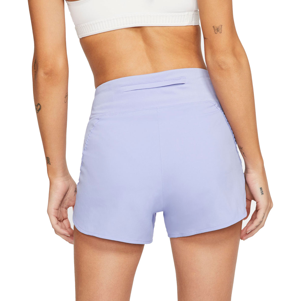 "Women's Nike Eclipse 3"" Running Shorts - Color: Light Thistle/Reflective Silver - Size: XS, Light Thistle/Reflective Silver, large, image 2"