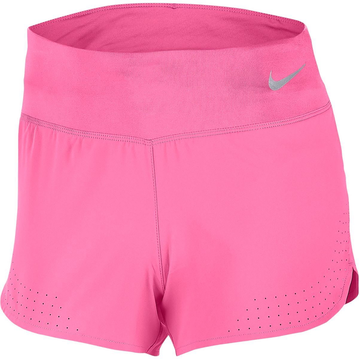 Women's Nike Eclipse 3in Short - Color: Pink Glow/Reflective - Size: XS - Width:, Pink Glow/Reflective, large, image 1