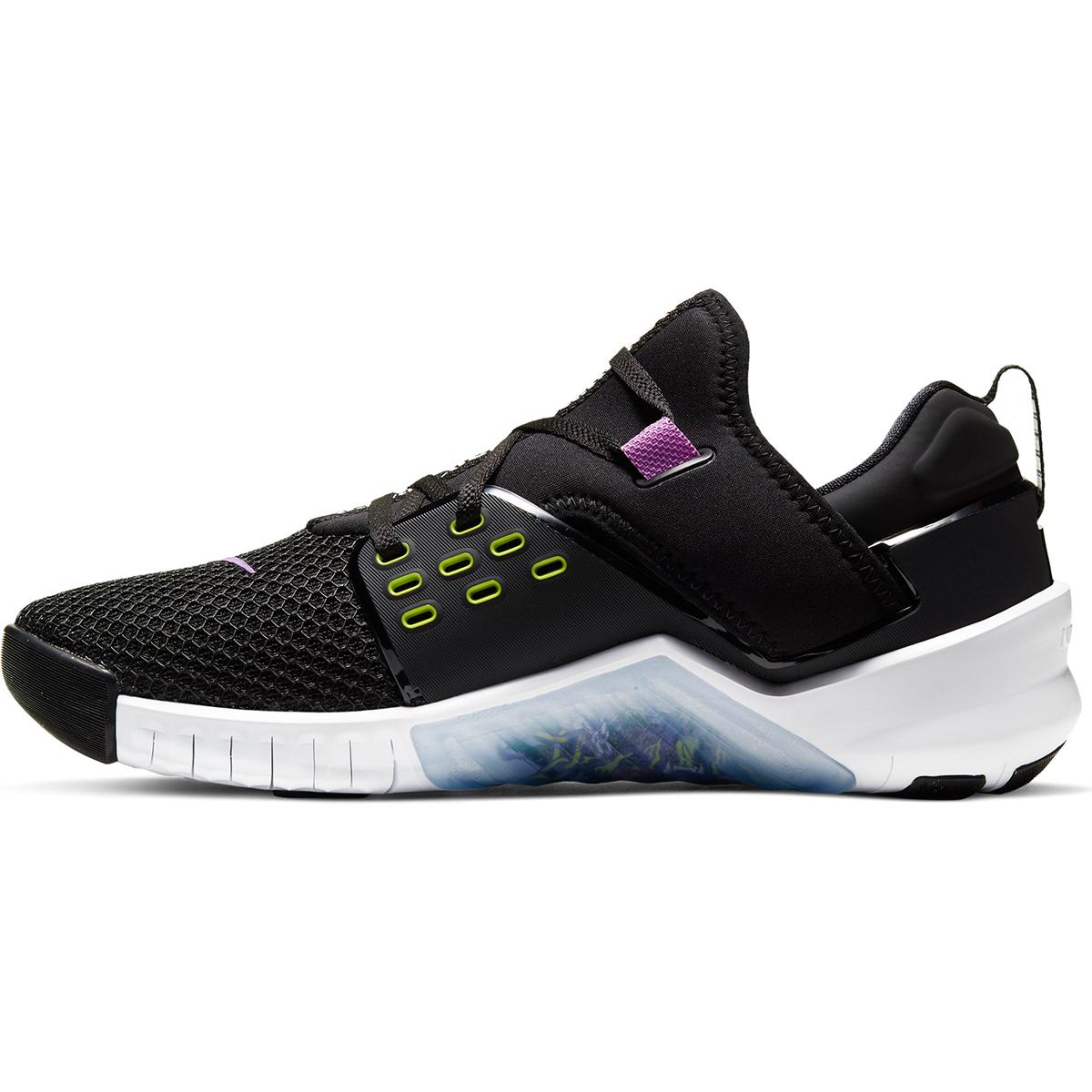 Men's Nike Free X Metcon 2 Training Shoes - Color: Black/Purple Nebula/White/Bright (Regular Width) - Size: 6, Black/Purple Nebula/White/Bright, large, image 2