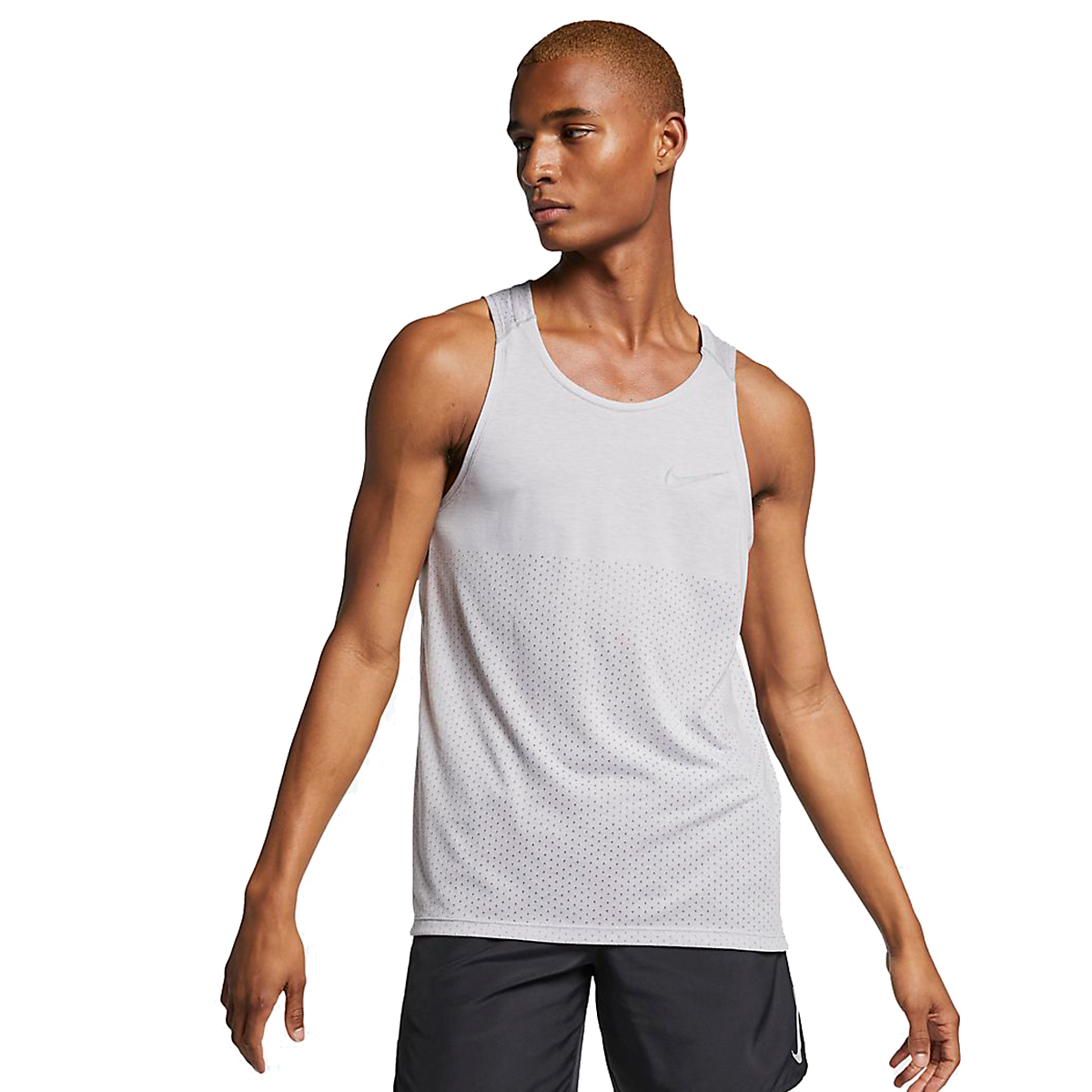 Men's Nike Breathe Rise 365 Tank  - Color: Atmosphere Grey - Size: S, Atmosphere Grey, large, image 1