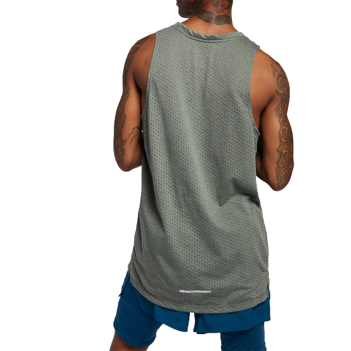 Men's Nike Breathe Rise 365 Tank  - Color: Juniper Fog/Heather - Size: XL, Juniper Fog/Heather, large, image 2