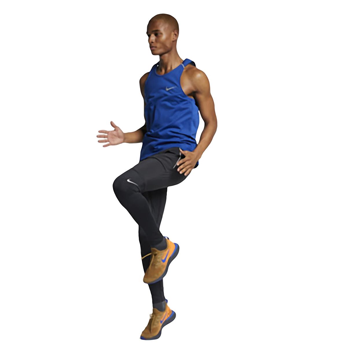 Men's Nike Breathe Rise 365 Tank  - Color: Indigo Force/Reflective  - Size: M, Indigo Force/Reflective, large, image 2