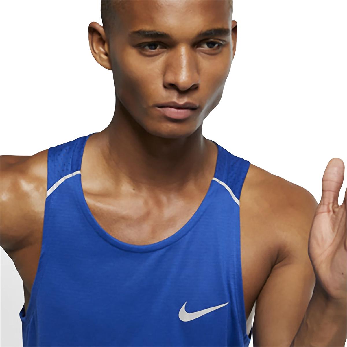 Men's Nike Breathe Rise 365 Tank  - Color: Indigo Force/Reflective  - Size: M, Indigo Force/Reflective, large, image 4
