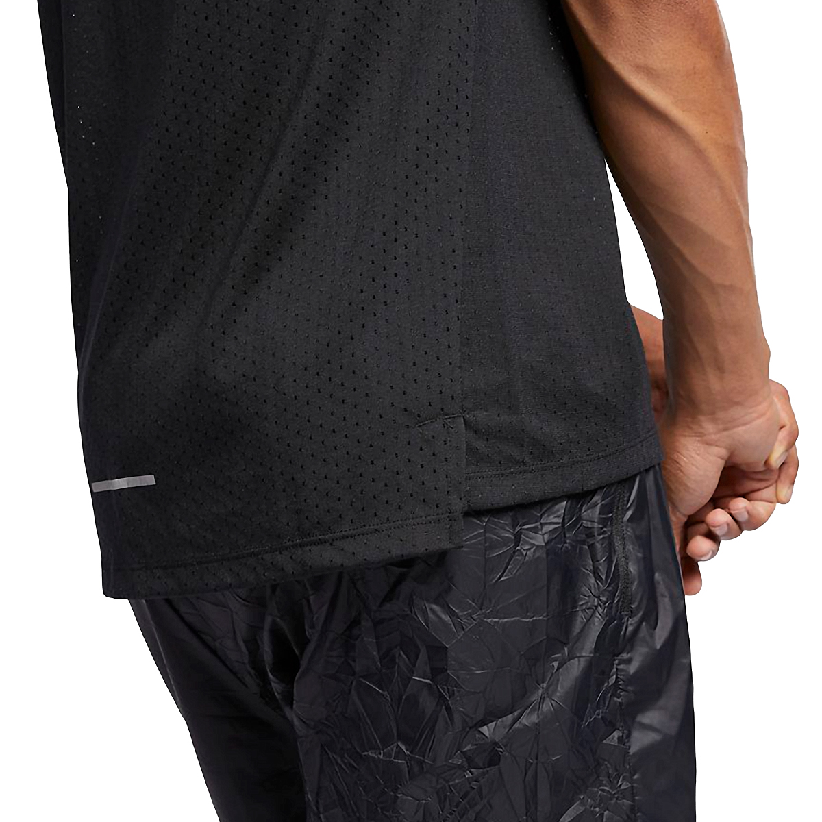 Men's Nike Breathe Rise 365 Short Sleeve  - Color: Black/Reflective - Size: S, Black/Reflective, large, image 4