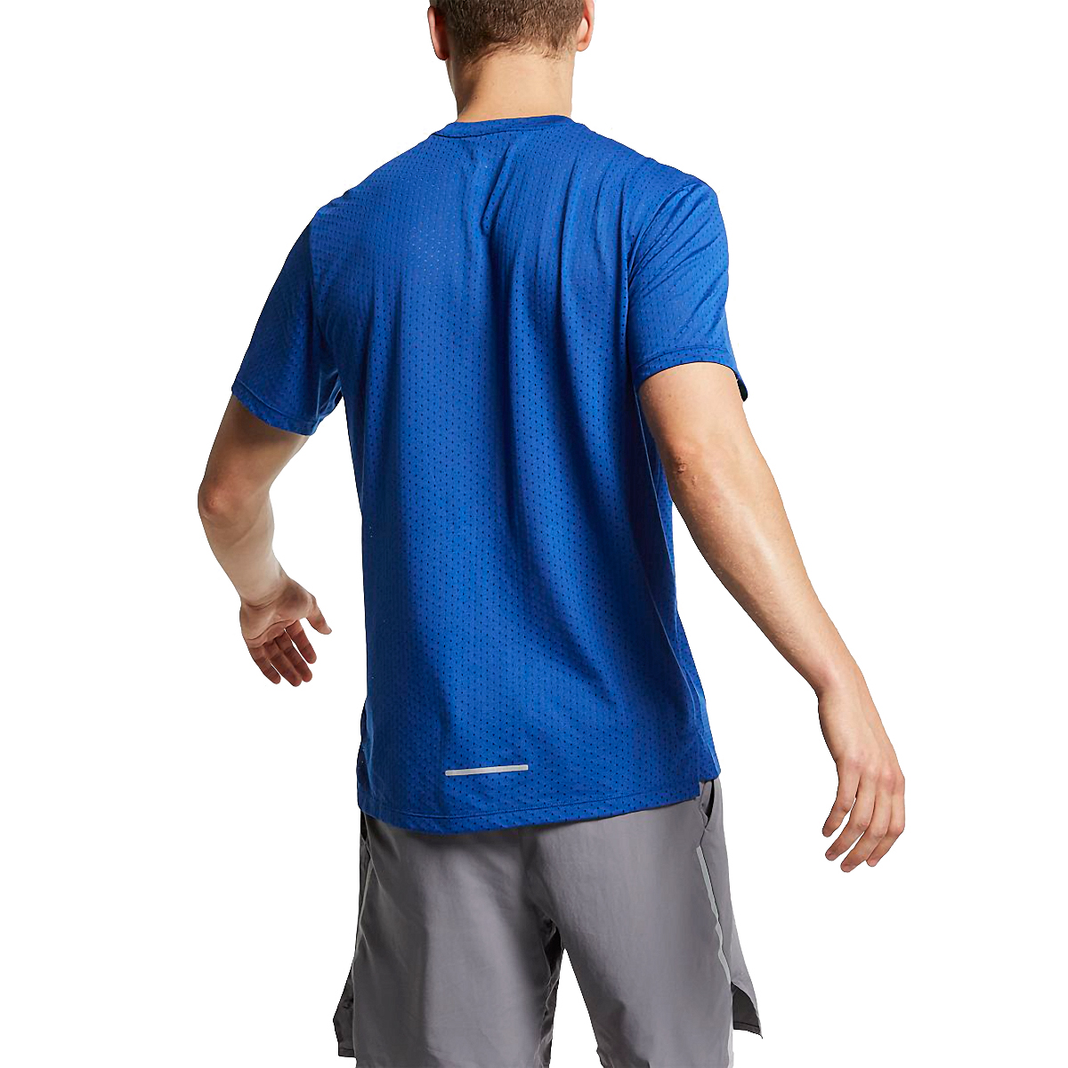 Men's Nike Breathe Rise 365 Short Sleeve - Color: Indigo Force/Reflective - Size: S, Indigo Force/Reflective, large, image 2