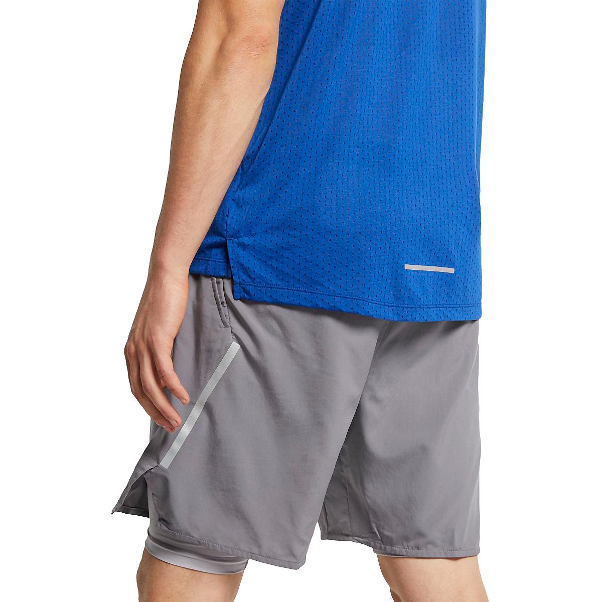 Men's Nike Breathe Rise 365 Short Sleeve  - Color: Indigo Force/Reflective - Size: S, Indigo Force/Reflective, large, image 4