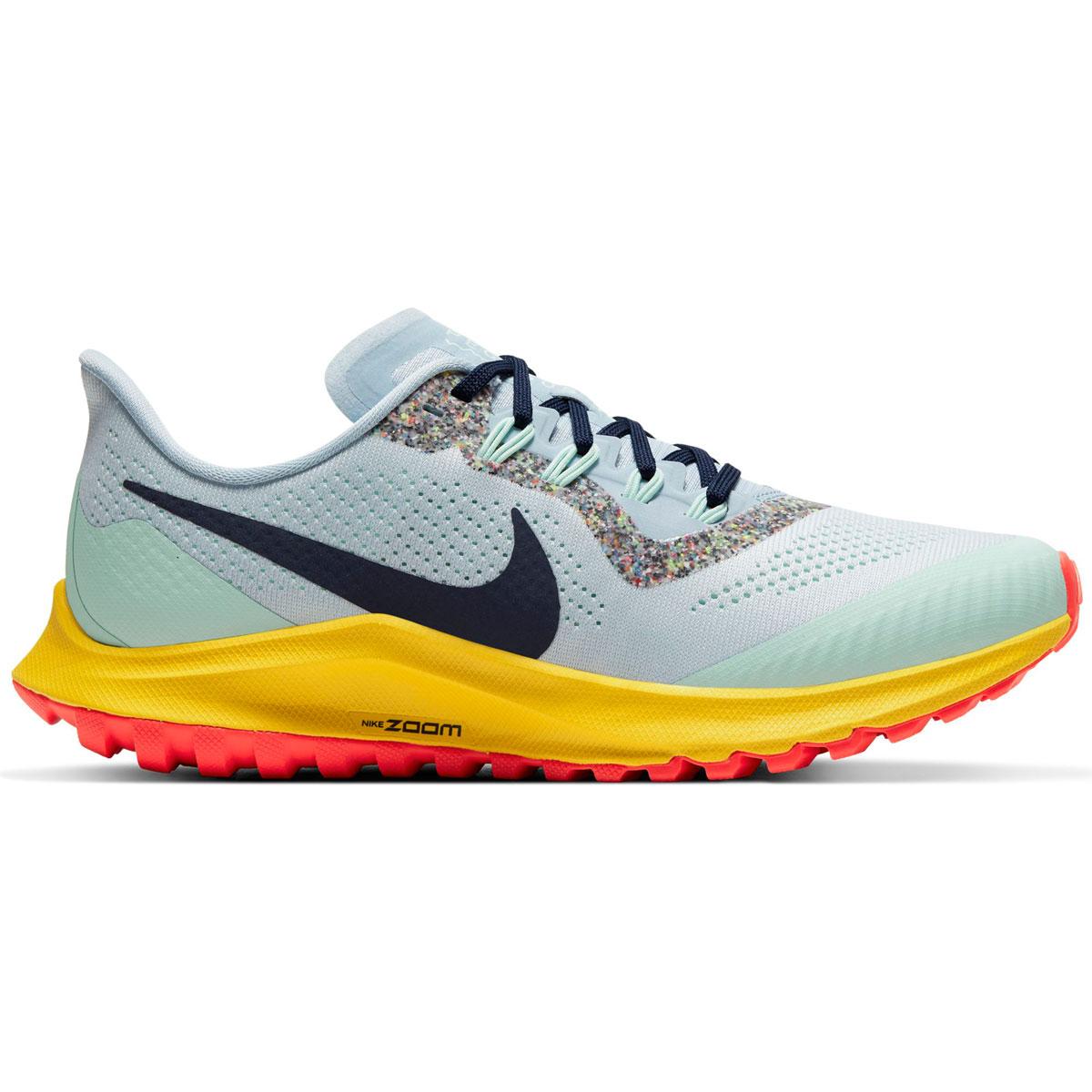 Women's Nike Air Zoom Pegasus 36 Trail Running Shoe - Color: Aura/Blackened Blue/Light Armory (Regular Width) - Size: 5, Aura/Blackened Blue/Light Armory, large, image 1