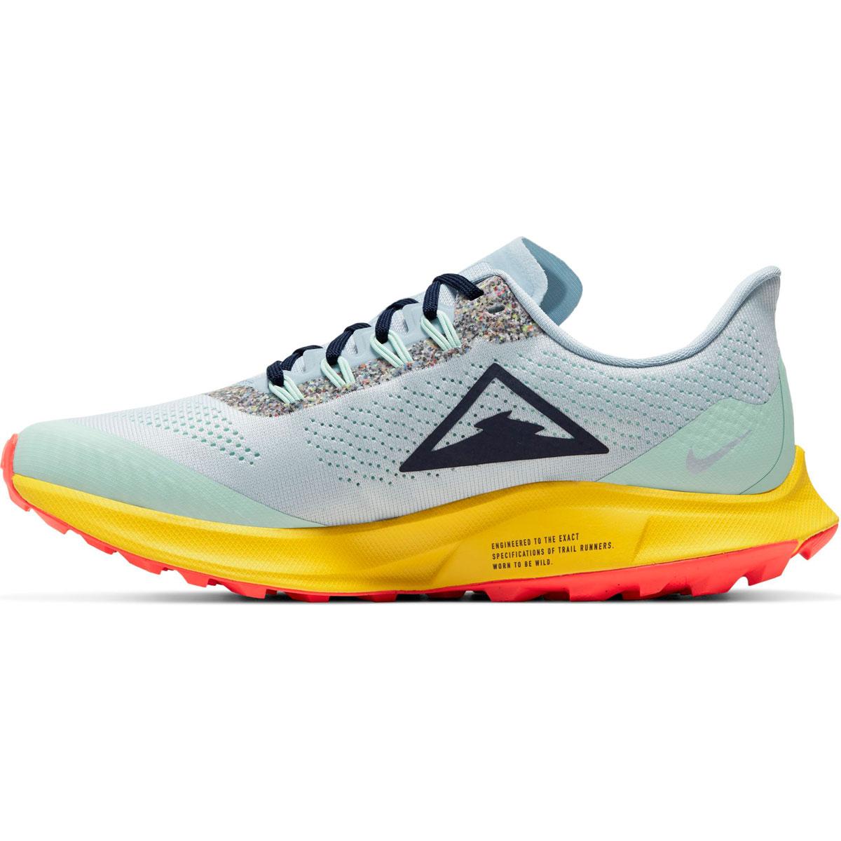 Women's Nike Air Zoom Pegasus 36 Trail Running Shoe - Color: Aura/Blackened Blue/Light Armory (Regular Width) - Size: 5, Aura/Blackened Blue/Light Armory, large, image 2