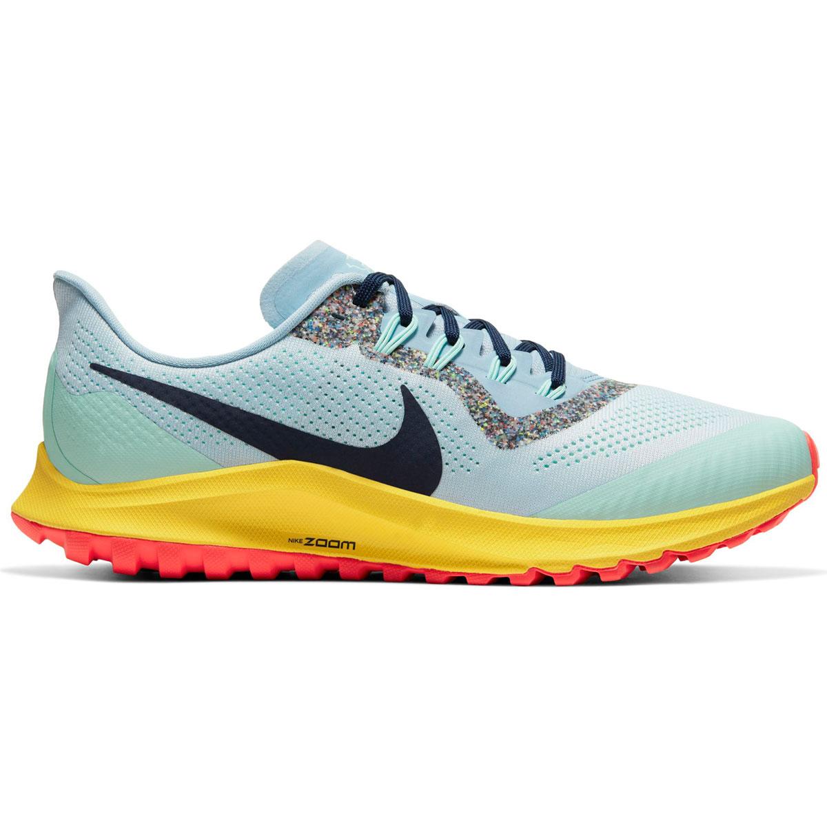 Men's Nike Air Zoom Pegasus 36 Trail Running Shoe - Color: Aura/Blackened Blue/Light Armory (Regular Width) - Size: 6, Aura/Blackened Blue/Light Armory, large, image 1