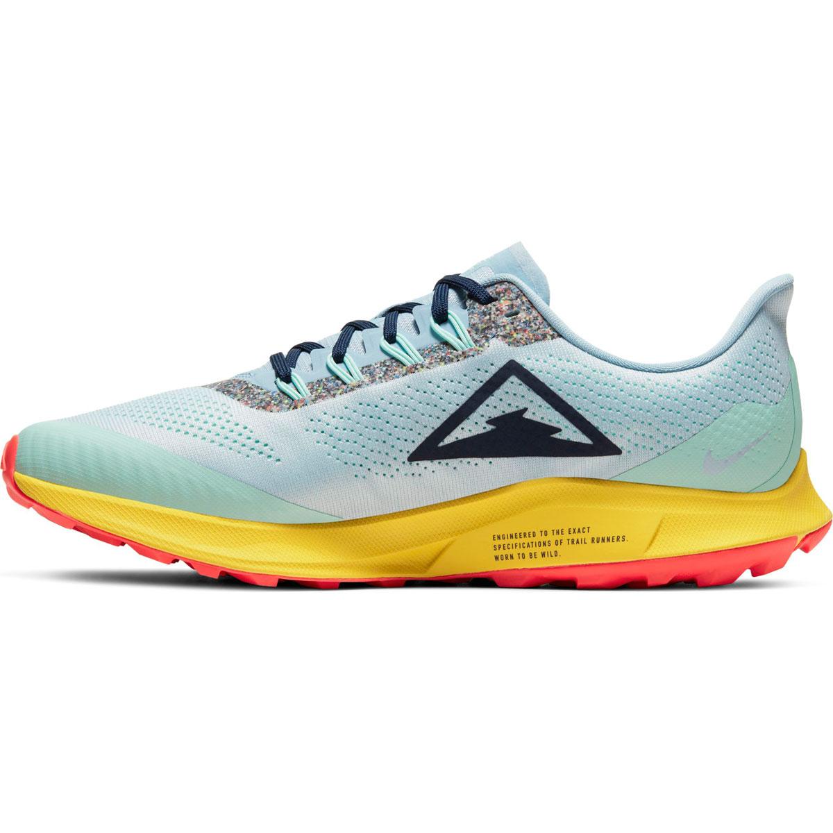Men's Nike Air Zoom Pegasus 36 Trail Running Shoe - Color: Aura/Blackened Blue/Light Armory (Regular Width) - Size: 6, Aura/Blackened Blue/Light Armory, large, image 2
