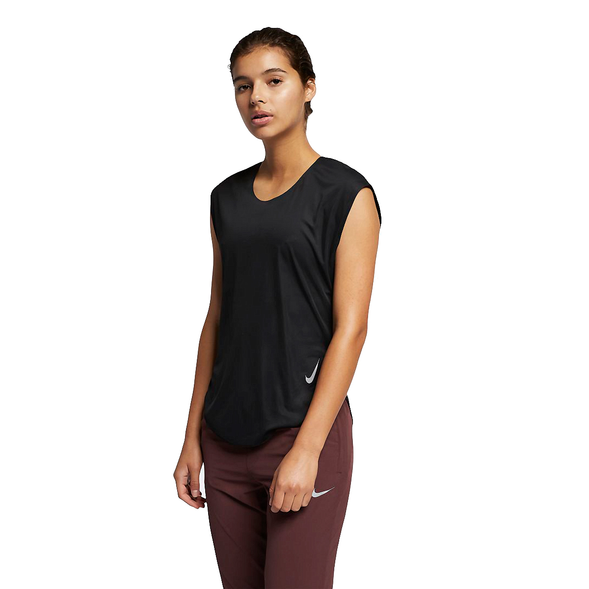 Women's Nike City Sleek Short Sleeve, , large, image 1