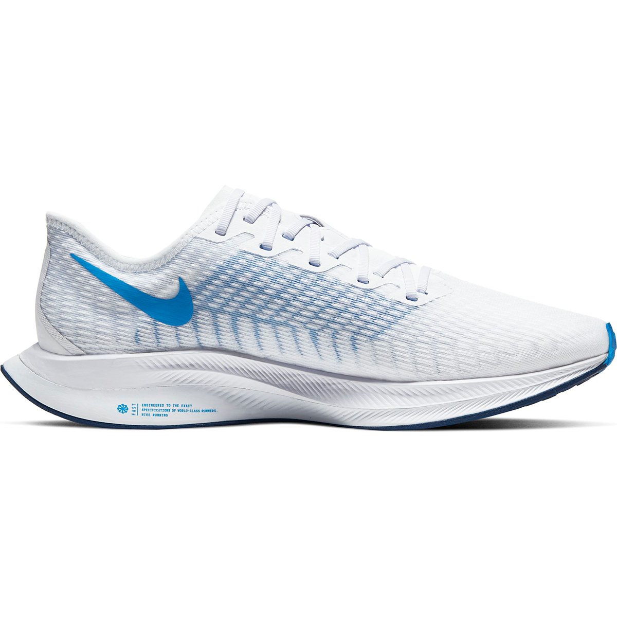 Men's Nike Zoom Pegasus Turbo 2 Running Shoe - Color: White/Blue Void/Football Grey/Photo Blue (Regular Width) - Size: 6, White/Blue Void/Football Grey/Photo Blue, large, image 1