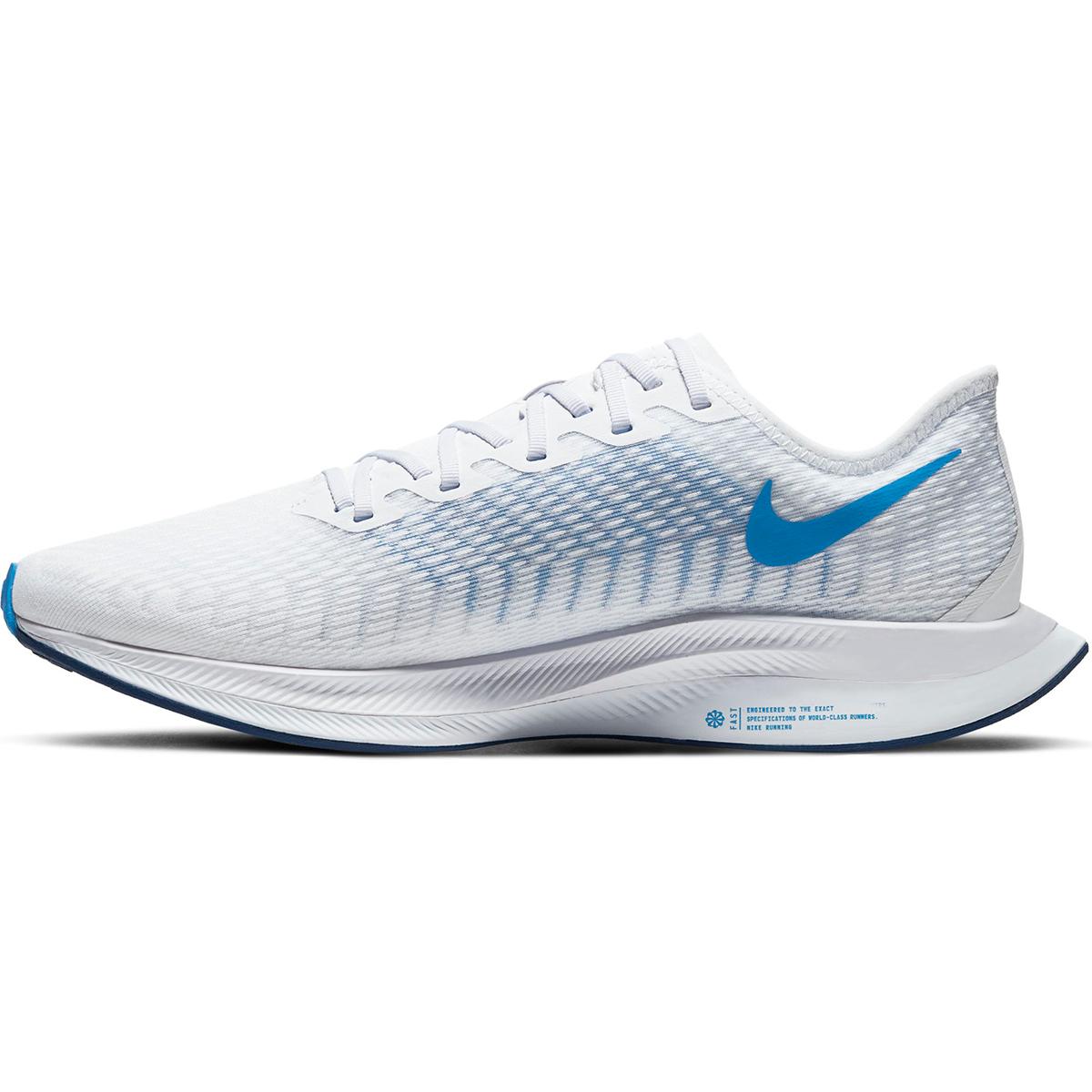 Men's Nike Zoom Pegasus Turbo 2 Running Shoe - Color: White/Blue Void/Football Grey/Photo Blue (Regular Width) - Size: 6, White/Blue Void/Football Grey/Photo Blue, large, image 2