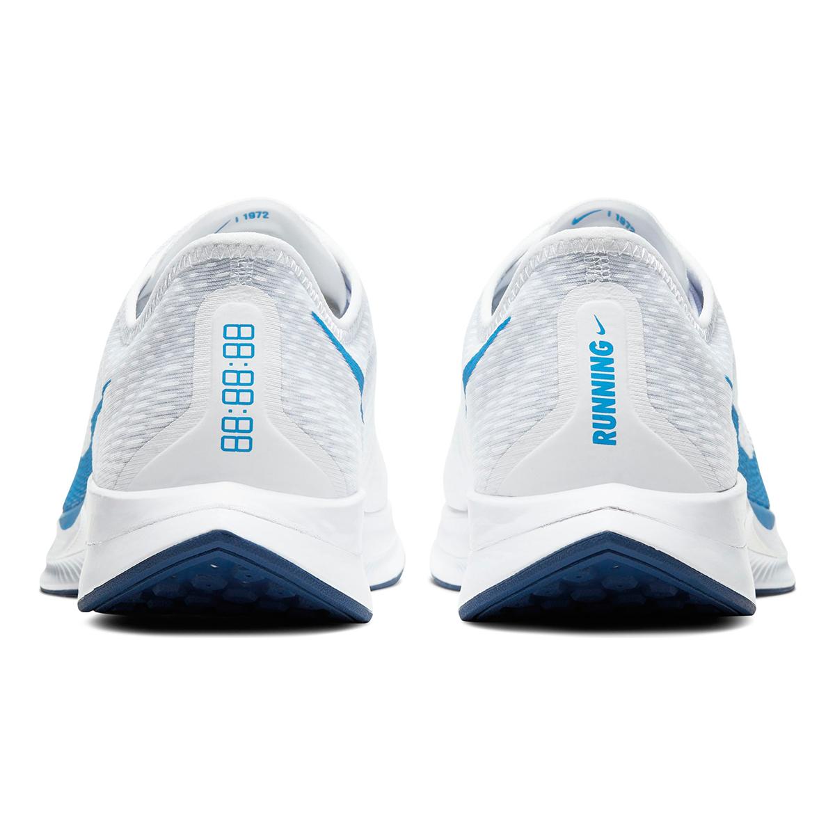 Men's Nike Zoom Pegasus Turbo 2 Running Shoe - Color: White/Blue Void/Football Grey/Photo Blue (Regular Width) - Size: 6, White/Blue Void/Football Grey/Photo Blue, large, image 3