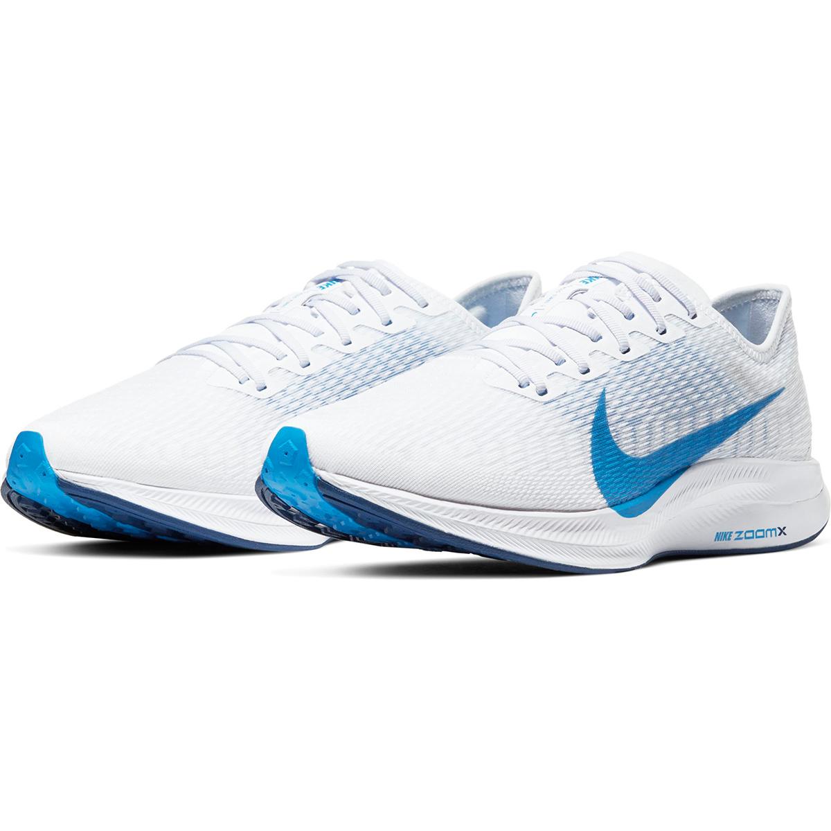 Men's Nike Zoom Pegasus Turbo 2 Running Shoe - Color: White/Blue Void/Football Grey/Photo Blue (Regular Width) - Size: 6, White/Blue Void/Football Grey/Photo Blue, large, image 4