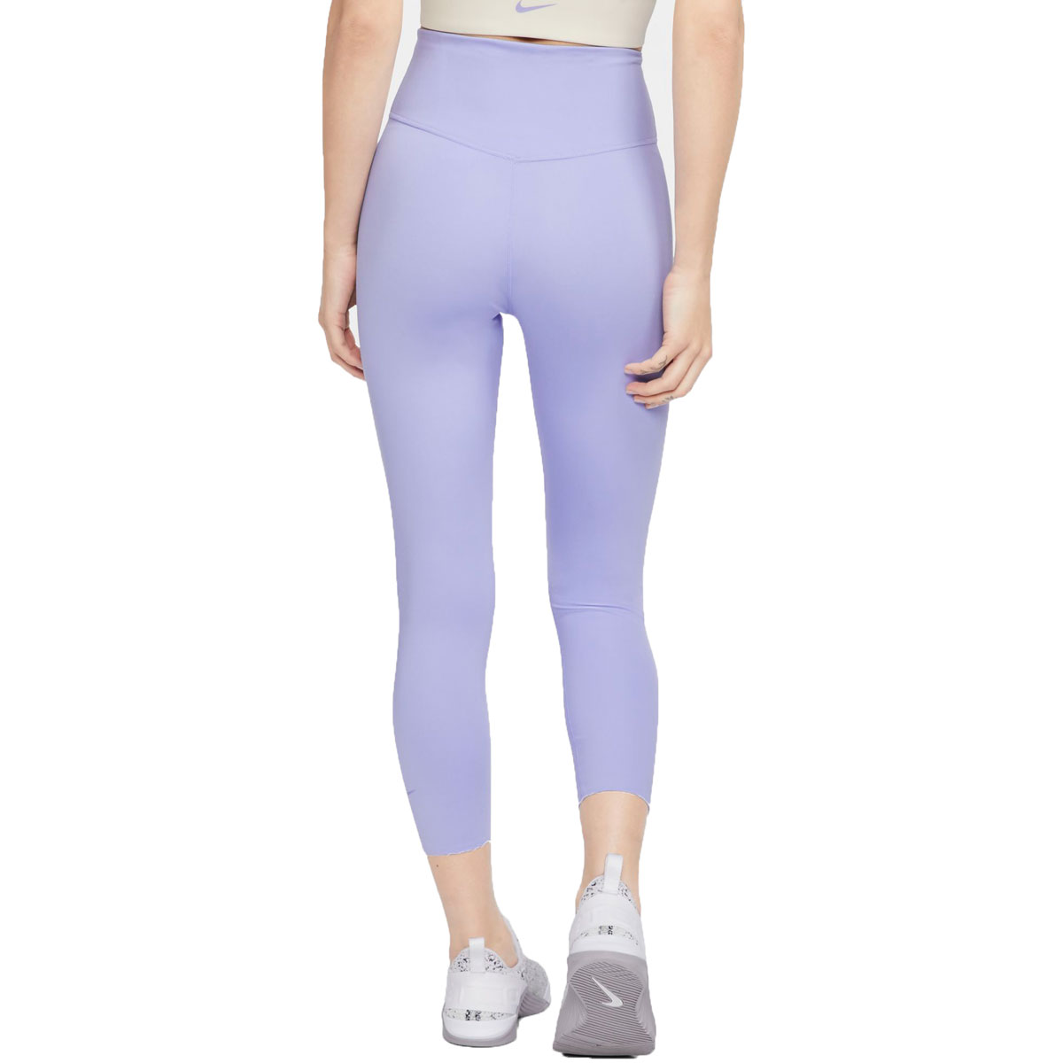 Women's Nike One Luxe Cropped Tights - Color: Light Thistle/Clear - Size: XS, Light Thistle/Clear, large, image 2