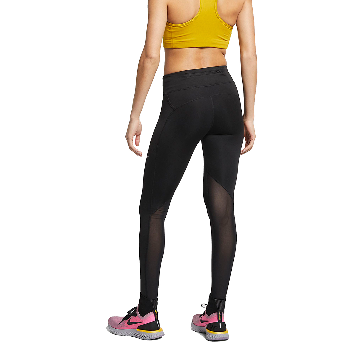 Women's Nike Fast Running Tights - Color: Black - Size: XS, Black, large, image 2