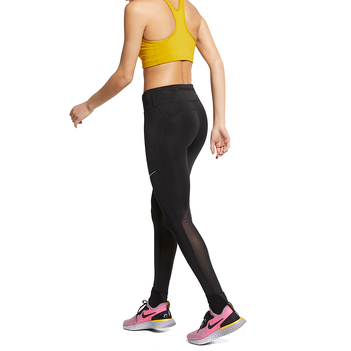 Women's Nike Fast Running Tights - Color: Black - Size: XS, Black, large, image 3