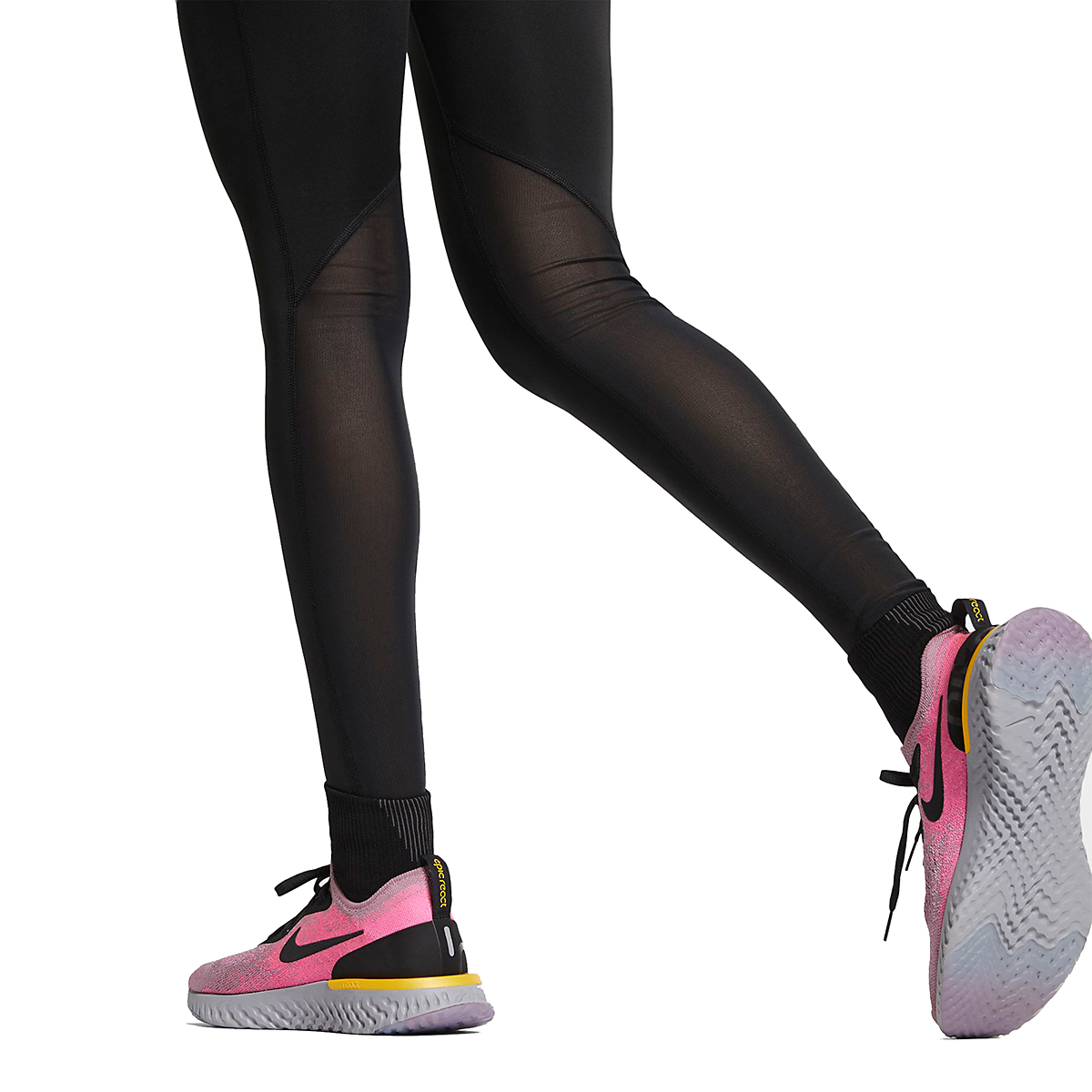 Women's Nike Fast Running Tights - Color: Black - Size: XS, Black, large, image 4