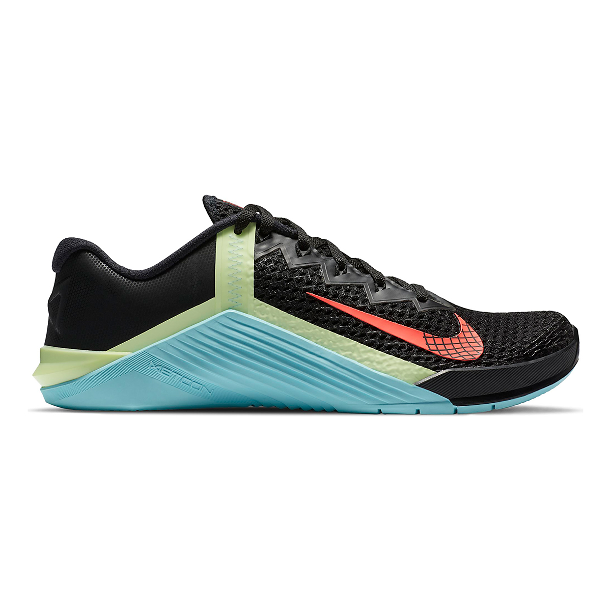 Women's Nike Nike Metcon 6 Training Shoes - Color: Black/White/Glacier Ice/Flash Crimson - Size: 5 - Width: Regular, Black/White/Glacier Ice/Flash Crimson, large, image 1
