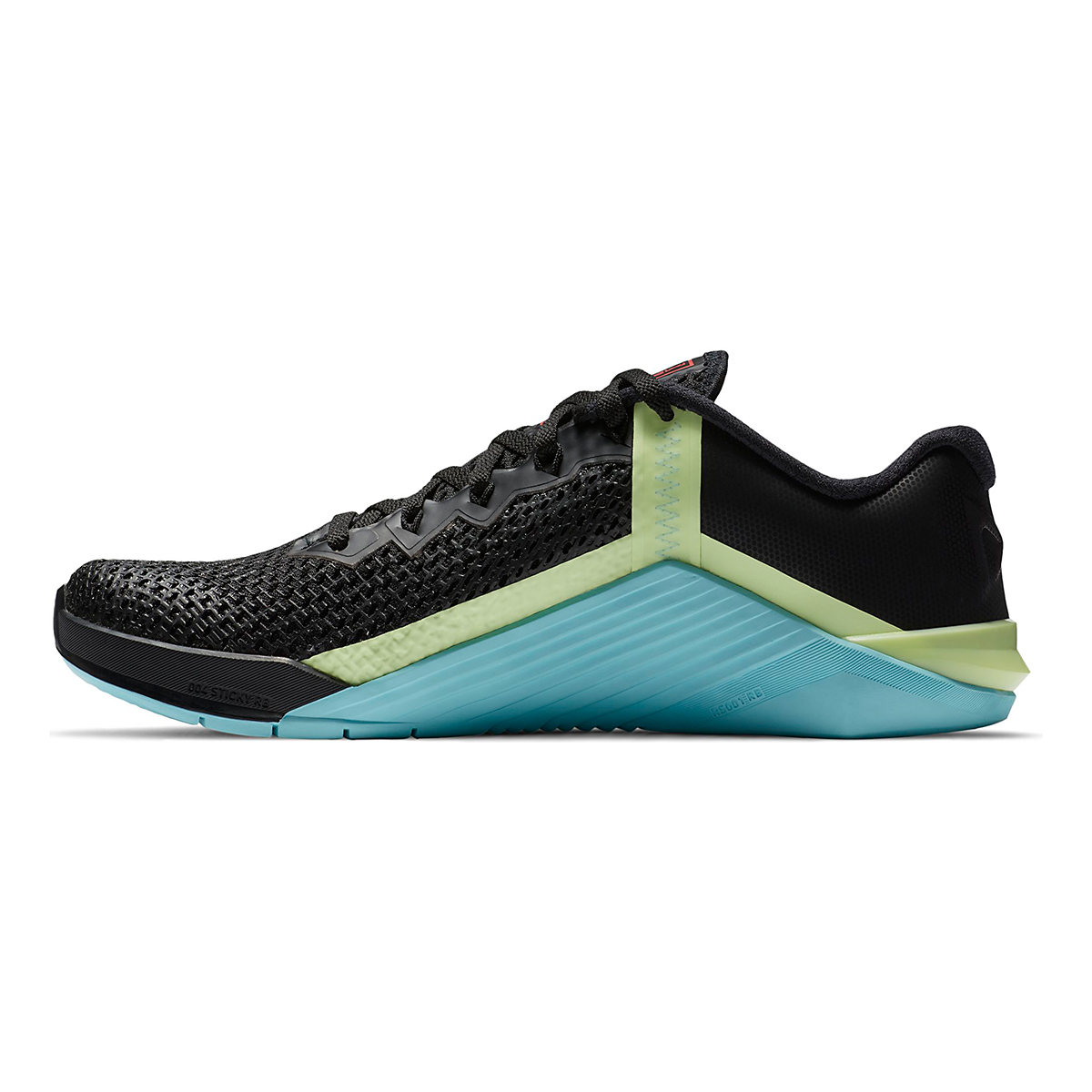 Women's Nike Nike Metcon 6 Training Shoes - Color: Black/White/Glacier Ice/Flash Crimson - Size: 5 - Width: Regular, Black/White/Glacier Ice/Flash Crimson, large, image 2