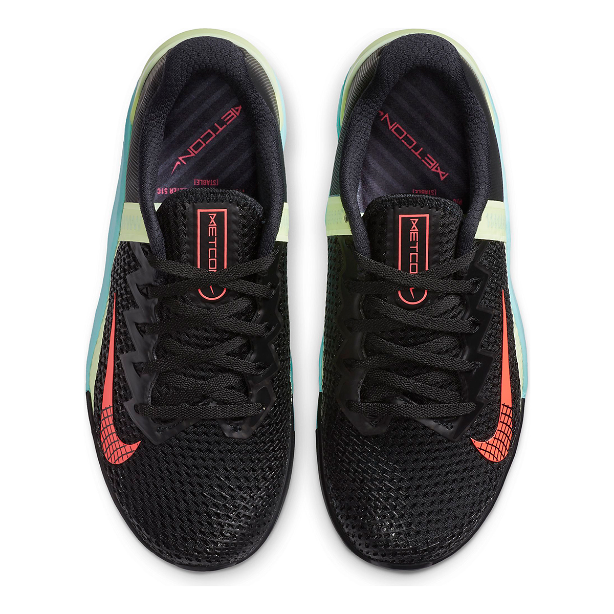 Women's Nike Nike Metcon 6 Training Shoes - Color: Black/White/Glacier Ice/Flash Crimson - Size: 5 - Width: Regular, Black/White/Glacier Ice/Flash Crimson, large, image 4