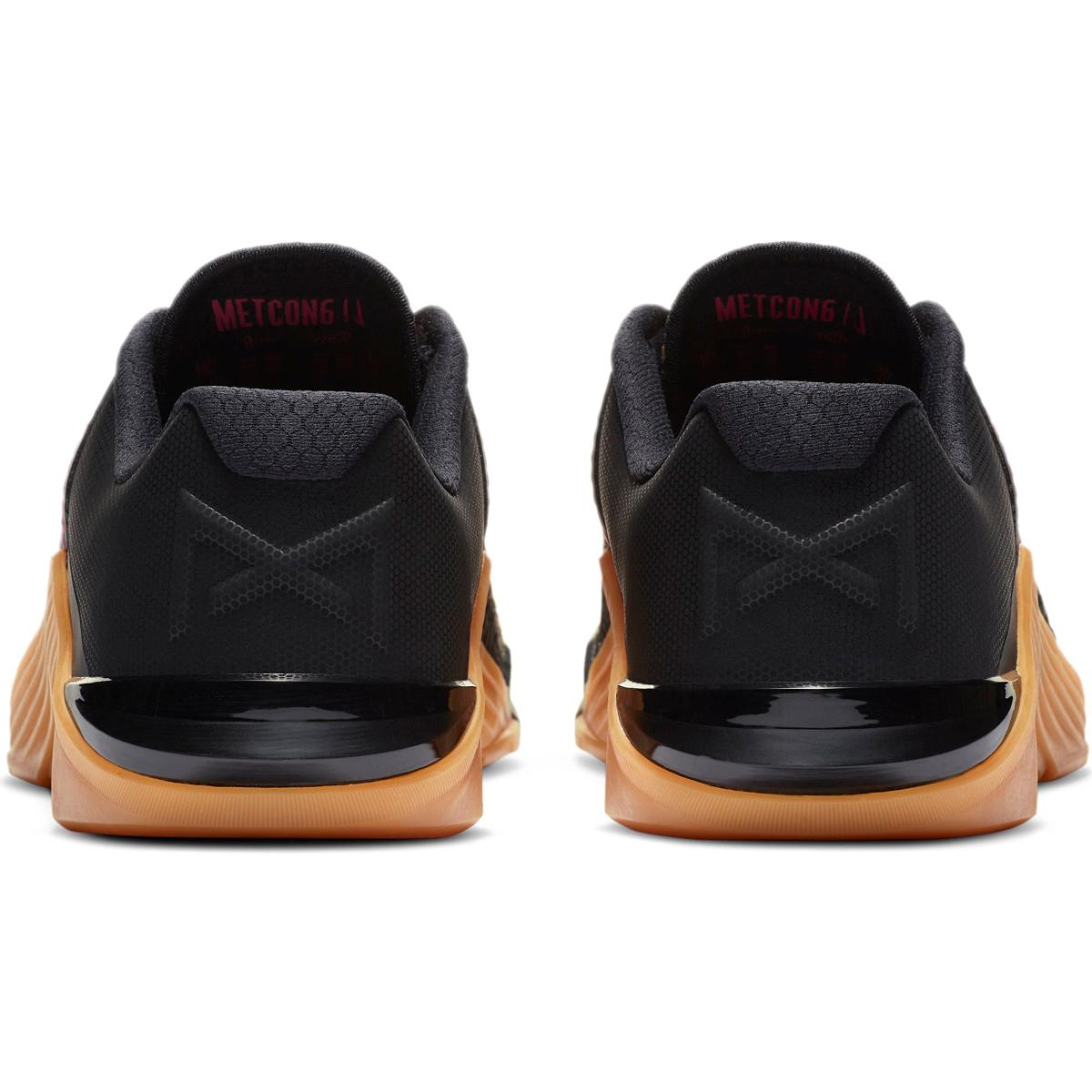 Women's Nike Metcon 6 Training Shoes - Color: Black/Metallic - Size: 5 - Width: Regular, Black/Metallic, large, image 5