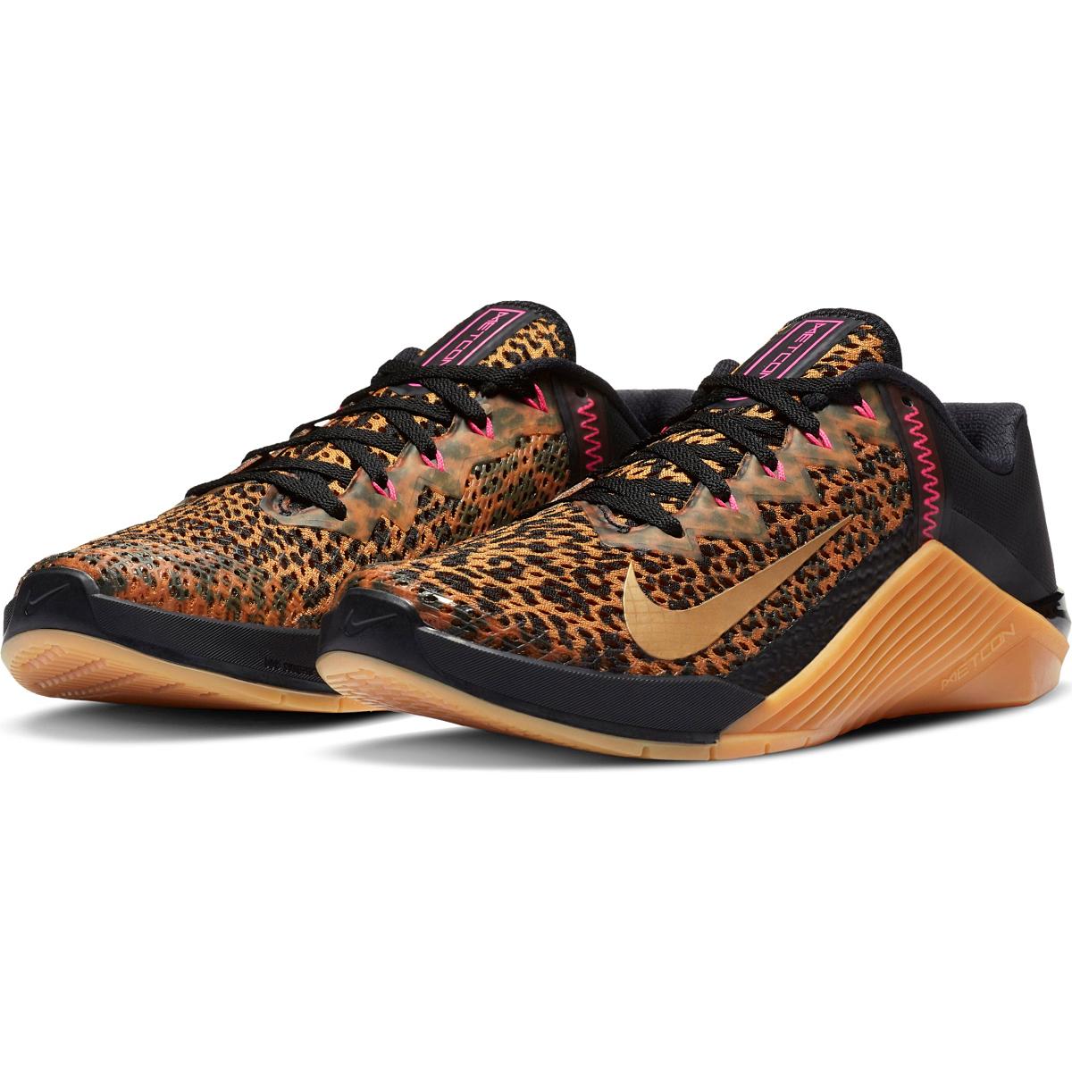 Women's Nike Metcon 6 Training Shoes - Color: Black/Metallic - Size: 5 - Width: Regular, Black/Metallic, large, image 6