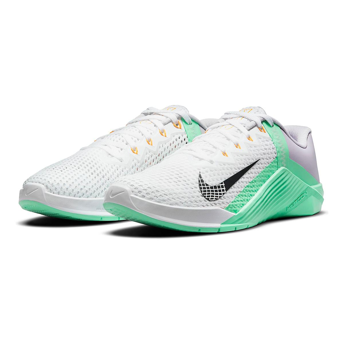 Women's Nike Metcon 6 Training Shoe - Color: White/Smoke Grey/Infinite Lilac - Size: 5 - Width: Regular, White/Smoke Grey/Infinite Lilac, large, image 4