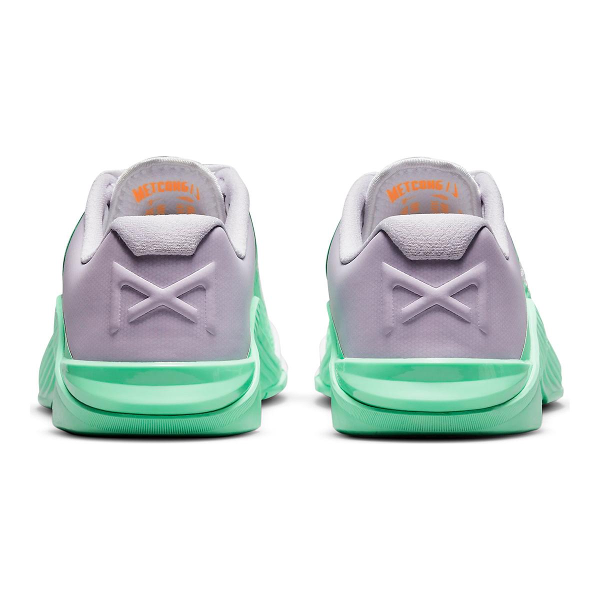 Women's Nike Metcon 6 Training Shoe - Color: White/Smoke Grey/Infinite Lilac - Size: 5 - Width: Regular, White/Smoke Grey/Infinite Lilac, large, image 5