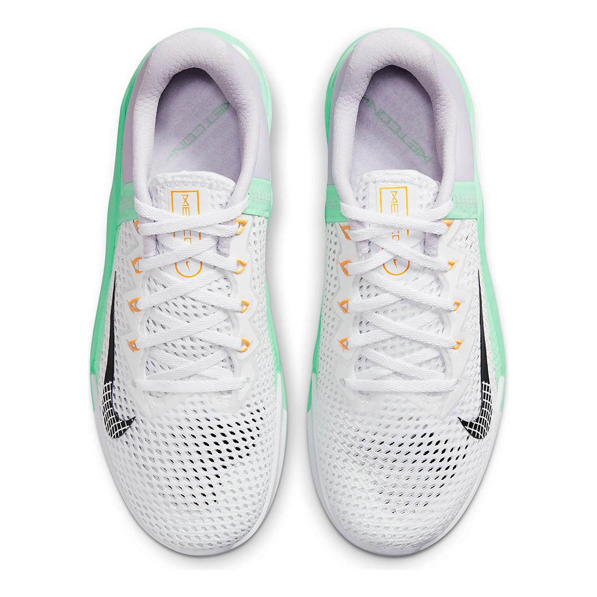 Women's Nike Metcon 6 Training Shoe - Color: White/Smoke Grey/Infinite Lilac - Size: 5 - Width: Regular, White/Smoke Grey/Infinite Lilac, large, image 6