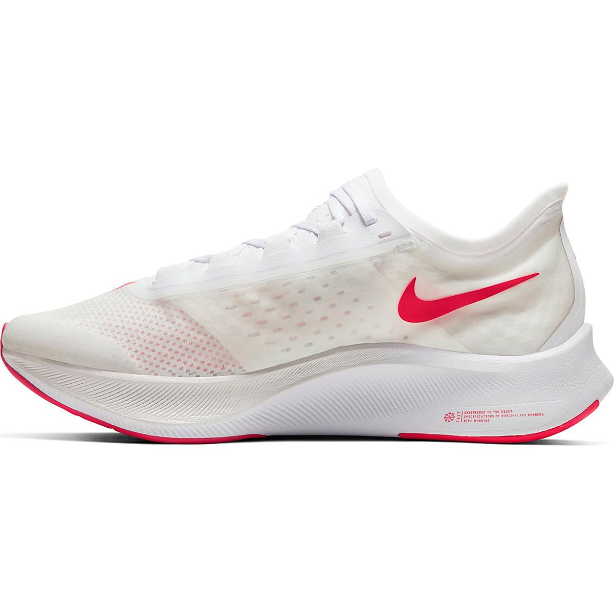 Men's Nike Zoom Fly 3 Running Shoe - Color: White/Laser Crimson - Size: 6 - Width: Regular, White/Laser Crimson, large, image 2
