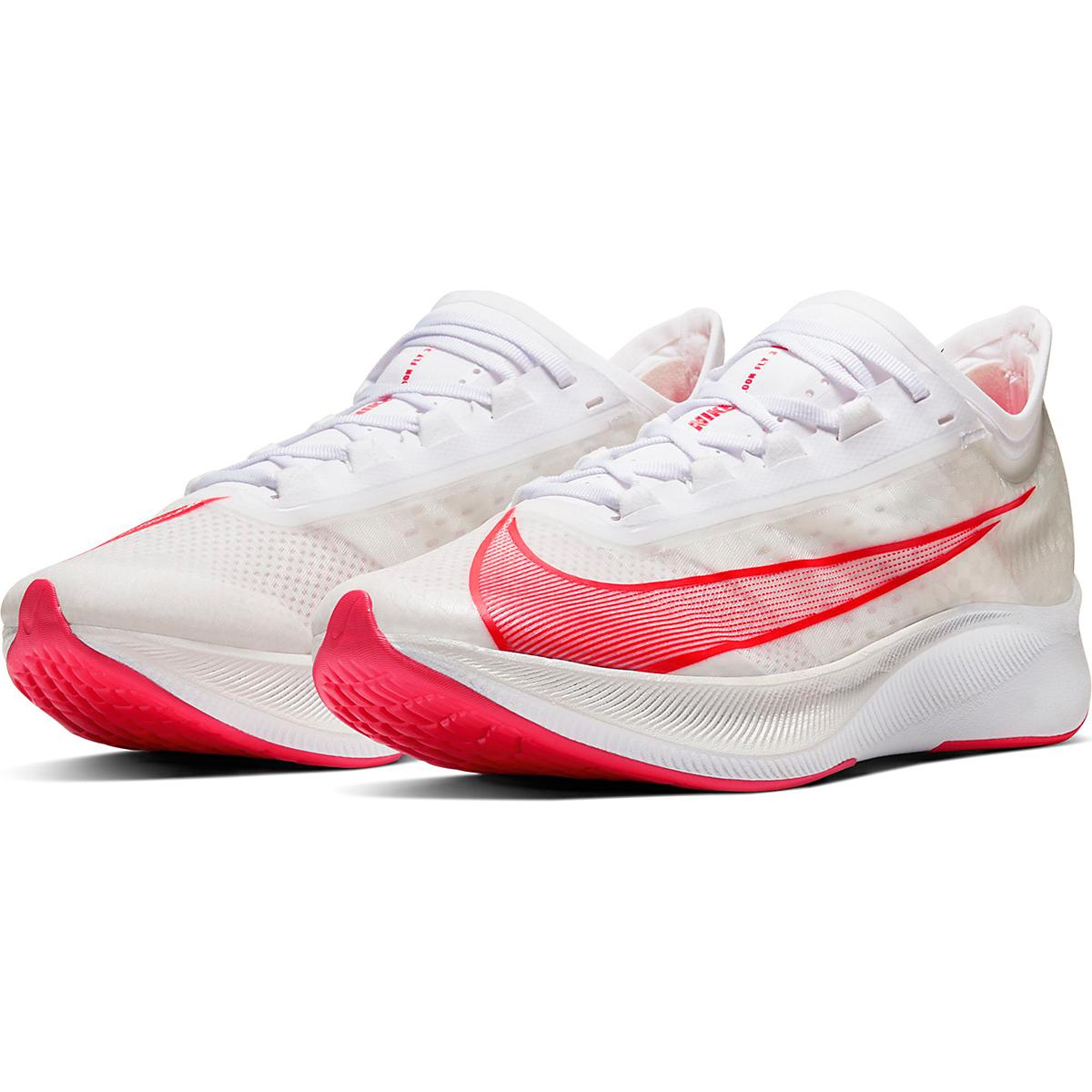 Men's Nike Zoom Fly 3 Running Shoe - Color: White/Laser Crimson - Size: 6 - Width: Regular, White/Laser Crimson, large, image 4