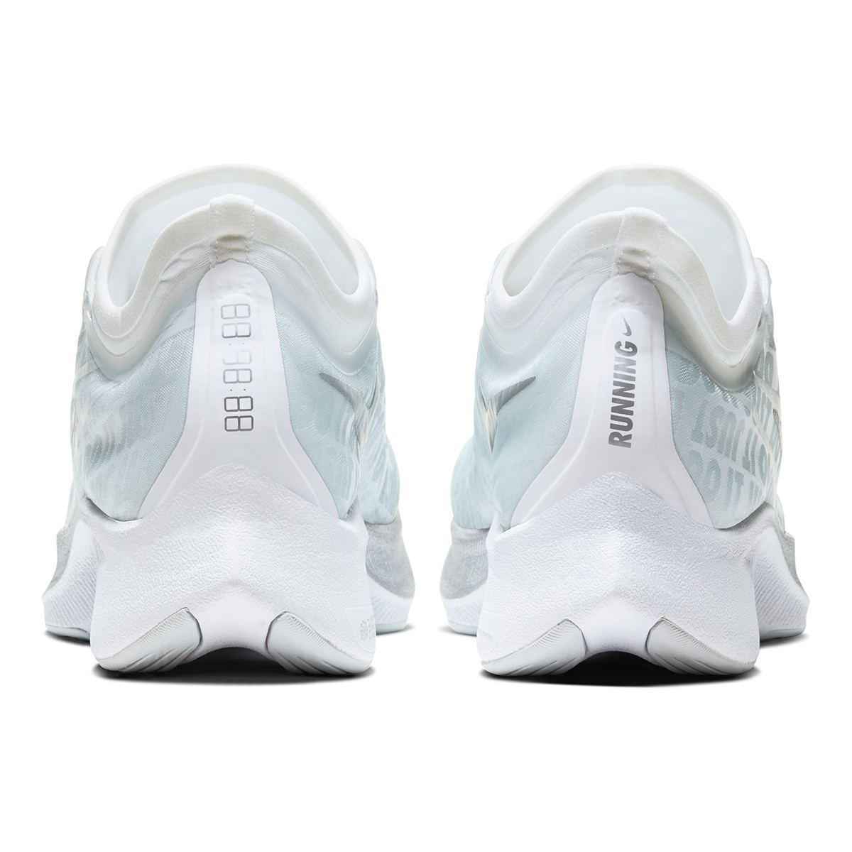 Women's Nike Zoom Fly 3 Running Shoe - Color: Pure Platinum/White/Aura/Metallic Silver (Regular Width) - Size: 5, Pure Platinum/White/Aura/Metallic Silver, large, image 3