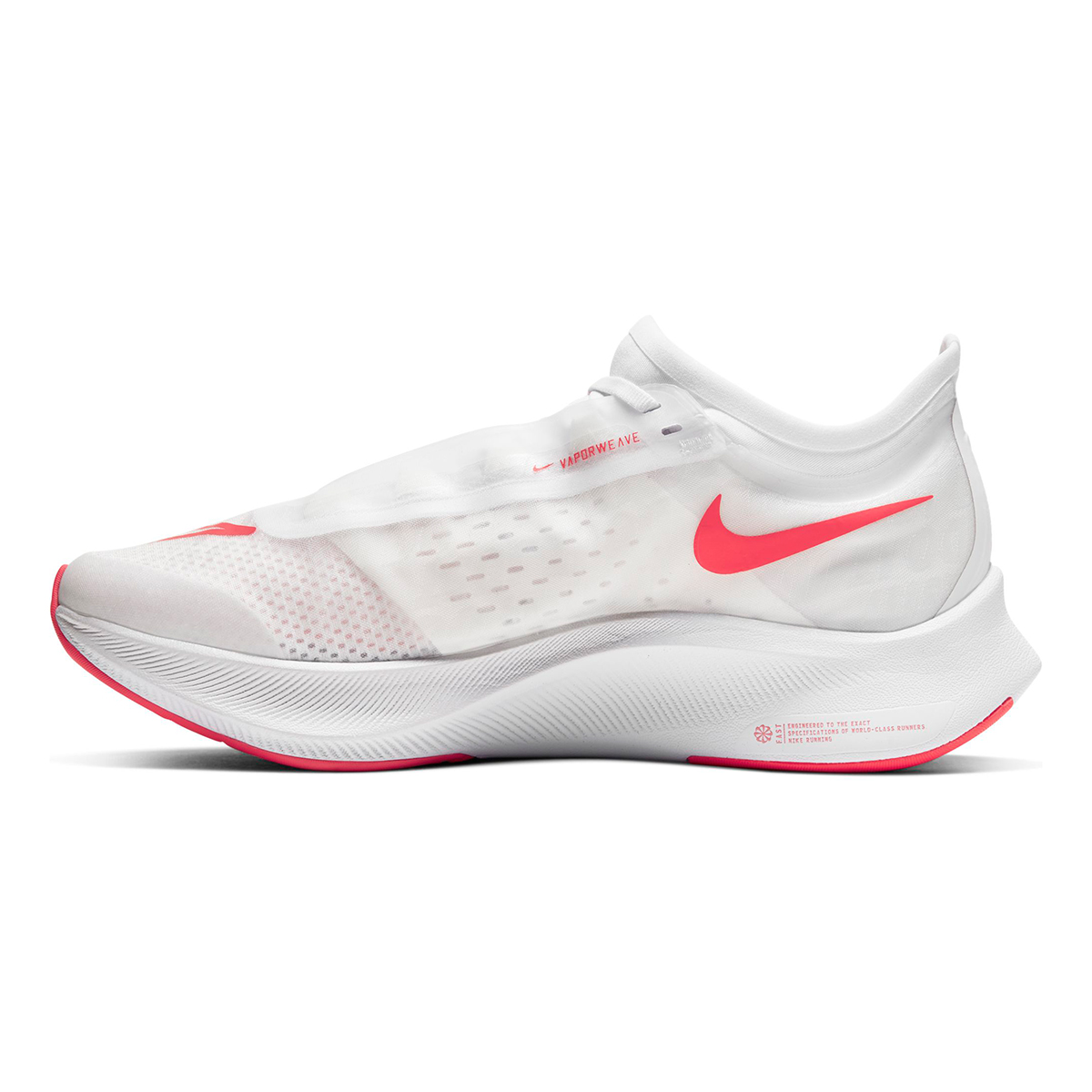 Women's Nike Zoom Fly 3 Running Shoes - Color: White/Laser Crimson/Summit White - Size: 5 - Width: Regular, White/Laser Crimson/Summit White, large, image 2