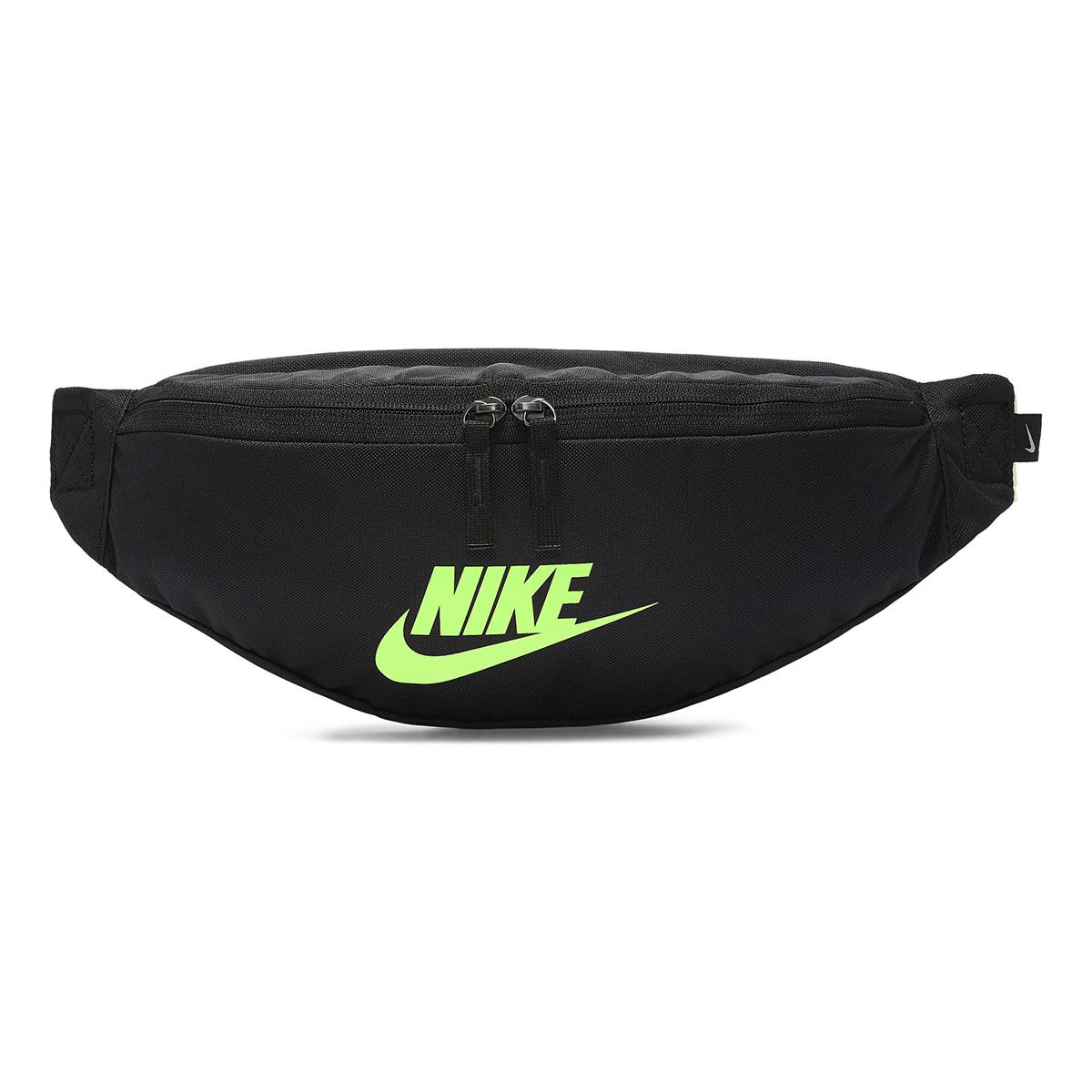 Nike Heritage Hip Pack - Color: Black/Lime - Size: OS, Black/Lime, large, image 1